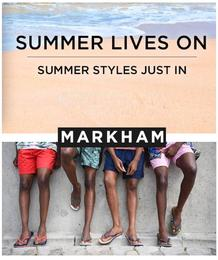 Markhams : Summer Styles Just In (16 Jan - 18 Feb 2018), page 1