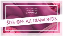 Sterns : Up To 50% Off All Diamonds (23 May - 08 Jul 2018), page 1