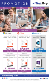 First Shop : Microsoft Promotion (5 March - 5 April 2018), page 1