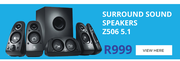 Logitech Surround Sound Speakers Z506 5.1