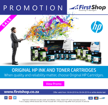First Shop : HP Ink & Toner Promo (18 Apr - 30 Apr 2019), page 1