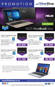 First Shop : Asus VivoBook Max (14 June -  28 June 2018), page 1