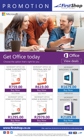 First Shop : Microsoft Promotion (5 June - 30 July 2018), page 1