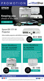 First Shop : Epson Promotion (1 July - 31 July 2017), page 1