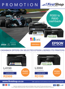 First Shop : Epson Promotion (12 July - 31 July 2018), page 1