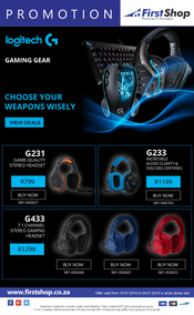 First Shop : Logitech Promotion (10 July - 24 July 2018), page 1