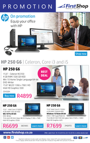 First Shop : HP Laptop Promo (16 Oct - 23 Oct 2018), page 1