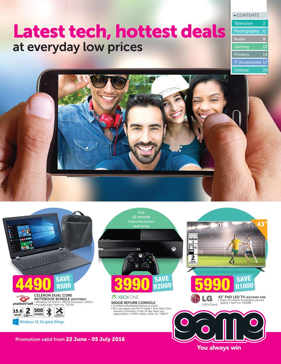 Game : Latest Tech, Hottest Deals (22 Jun - 5 Jul 2016)