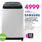 Samsung 13Kg Active Dual Wash Top Load Washing Machine WA13J5710SG F