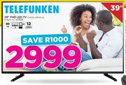 "Telefunken 39"" FHD LED TV TLEDD-39FHD A"