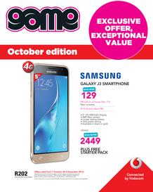 Game : Vodacom (7 Oct - 6 Nov 2016), page 1
