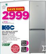 KIC 239Ltr Metallic Silver Bottom Freezer Fridge KBF5251ME