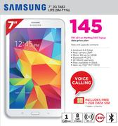 "Samsung 7"" 3G Tab3 LITE(SM-T116)-On MyMeg 500 Topup Data Price Plan"