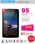 "Telefunken 7"" 3G Tablet(TEL-73GIQS)-On MyMeg 500 Topup Data Price Plan"