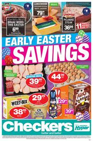 Checkers : Early Easter Savings (20 Mar - 02 Apr 2017), page 1
