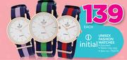 Initial Unisex Fashion Watches-Each
