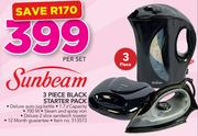 Sunbeam 3 Piece Black Starter Pack-Per Set