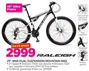"Raleigh 29"" MXR Dual Suspension Mountain Bike"
