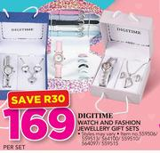 Digitime Watch And Fashion Jewellery Gift Sets-Per Set