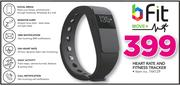 B Fit Heart Rate And Fitness Tracker