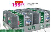 Castle Lite Cans-24x500ml Per Case