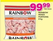 Rainbow Mixed Portions-4Kg Per Pack