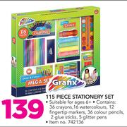 Grafix 115 Piece Stationery Set