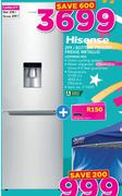 Hisense 299Ltr Bottom Freezer Fridge Metallic H299BME-WD