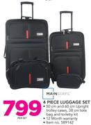 Mainstays 4 Piece Luggage Set-Per Set