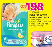 Pampers Active Baby Jumbo Pack-Per Pack