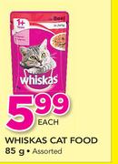 Whiskas Cat Food Assorted-85g