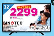"Sinotec 32"" HD Ready LED TV STL-32W2100"