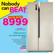Hisense 670Ltr Side By Side Fridge H670SG