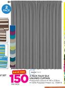 Mainstays 2 Pack Faux Silk Unlined Curtain-Per Pack