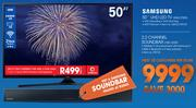 "Samsung 50"" UHD LED TV 50KU7000 With Free Samsung 2.2 Channel Sound Bar HW J250-On My Gig3"