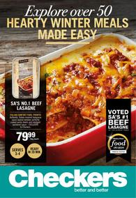 Checkers : Hearty Winter Meals Made Easy (26 Jun - 09 Jul 2017), page 1