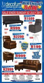 Decofurn : Birthday Sale (26 Jun - 02 Jul 2017), page 1