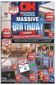 OK Furniture : Massive Birthday (27 Jun - 09 Jul 2017), page 1