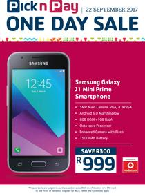 Pick n Pay : One Day Sale On Cellular (22 Sep Only 2017), page 1