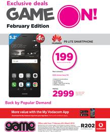 Game Vodacom : February Edition (7 Feb - 6 March 2018), page 1