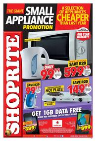 Shoprite : Small Appliance (21 Aug - 03 Sep 2017), page 1