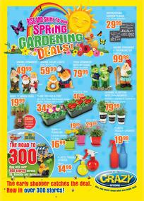 The Crazy Store : Spring Gardening Deals! (04 Sep - 01 Oct 2017), page 1