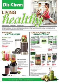 Dis-Chem : Living Healthy (03 Sep - 15 Oct 2017), page 1