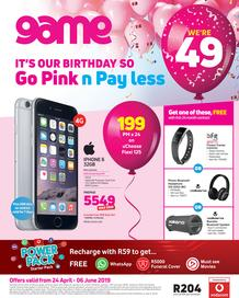 Game Vodacom : Go Pink n Pay Less (24 Apr - 6 June 2019), page 1
