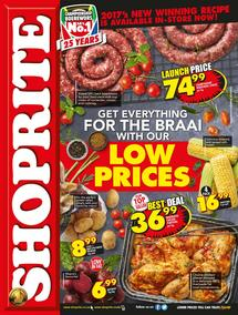Shoprite KZN : For The Braai (18 Sep - 01 Oct 2017), page 1