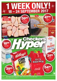 Checkers Hyper : 1 Week Only! (18 Sep - 24 Sep 2017), page 1