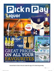 Pick n Pay : Great Prices (23 Nov - 24 Dec 2015), page 1
