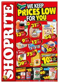 Shoprite KZN : Prices Low (16 Oct - 22 Oct 2017), page 1