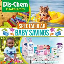 Dis-Chem : Baby Savings (20 Oct - 12 Nov 2017), page 1