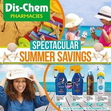 Dis-Chem : Summer Savings (20 Oct - 12 Nov 2017), page 1